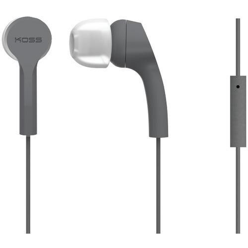 Koss Keb9i Noise-isolating Earbuds With Microphone (gray) (pack of 1 Ea)
