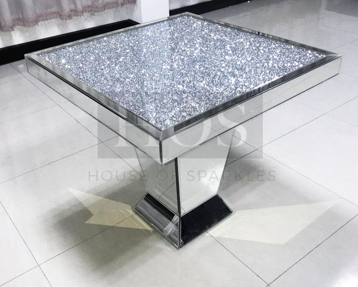 Diamond Crush Dining Table Mirrored Furniture Dining