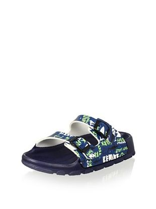 59% OFF Birki's Kid's Haiti Sandal (Blue)