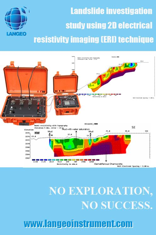 LANGEO: Landslide investigation study using 2D ERT system with 2D electrical resistivity imaging (ERI) technique - www.langeoinstrument.com