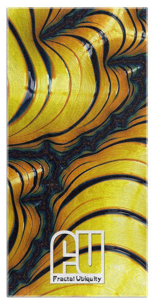 Hornet Microfiber Polyester Oversized Beach Towel by Fractal Ubiquity