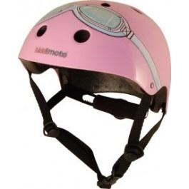 skate- & fietshelm roze met bril Kiddimoto. Kies with flair