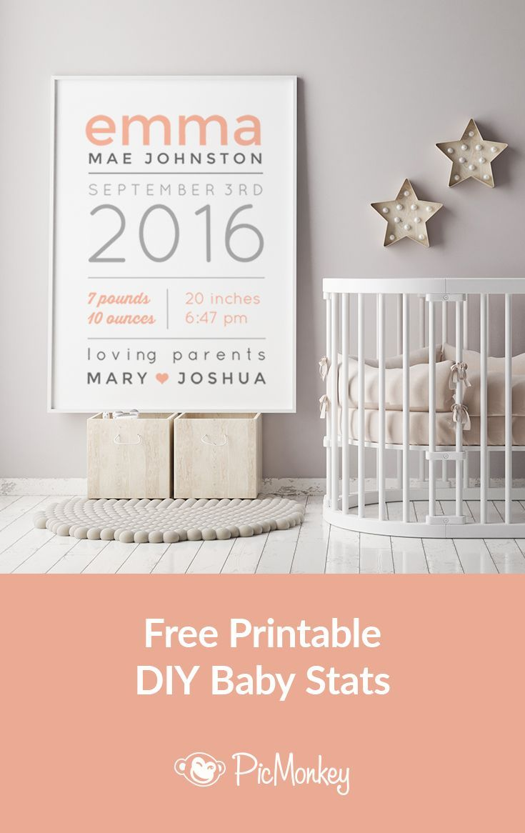 90 best personalized kids and baby clothing images on pinterest make a personalized baby gift with newborn stats negle Image collections