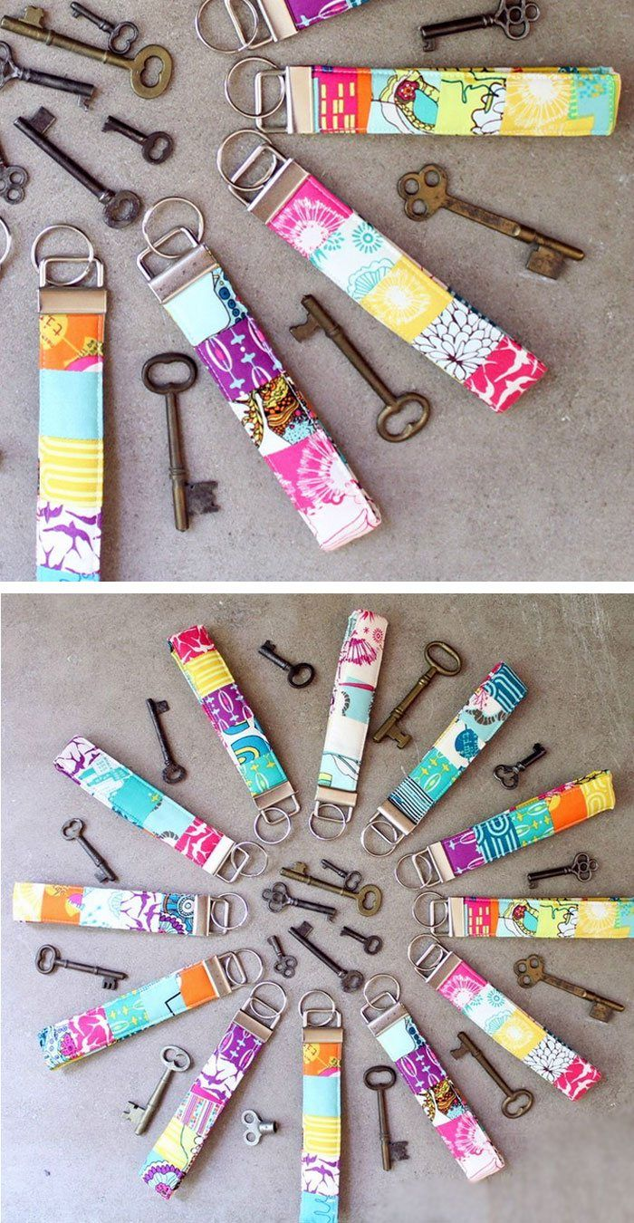 Scrappy Key Fobs | Click Pic for 22 DIY Stocking Stuffers for Teen Girls | DIY Holiday Gifts for Teen Girls