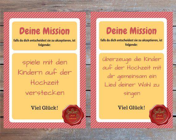 55 Hochzeitsmissionen Spiel Fur Hochzeitsgaste Lustiges Etsy Fun Wedding Games Printable Wedding Games Wedding Games
