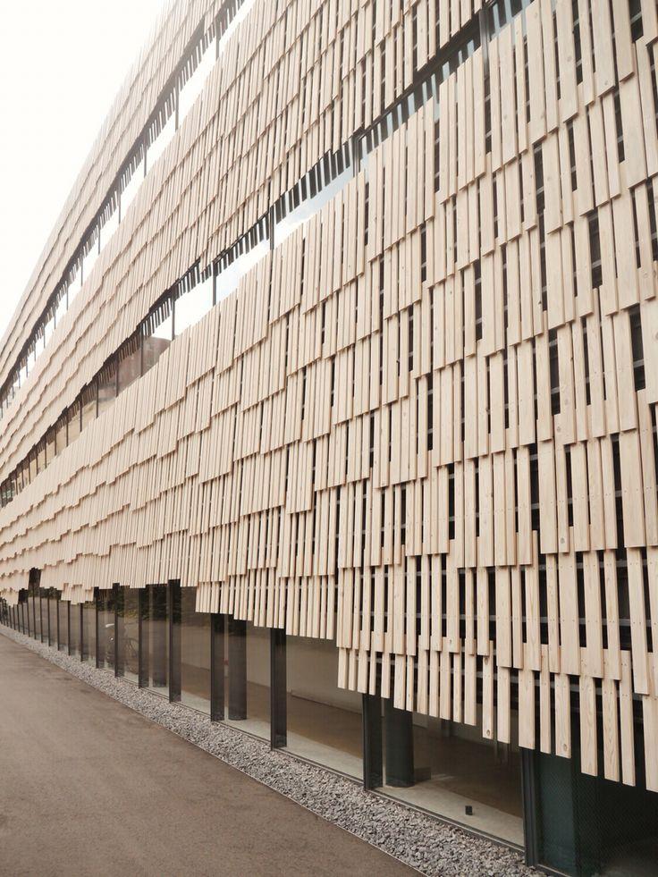 Wooden facade in Research Centre Todai