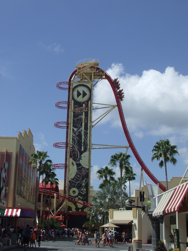 Rip Ride Rocket, Universal Studios. Computer glitch. Riders on for hours. Scary! Love this ride.
