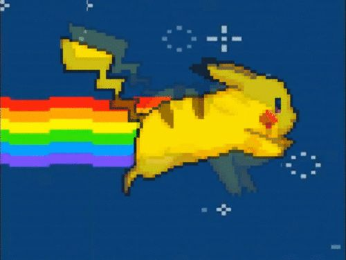 gif if you will yellow furry friend taking over nyan cat!