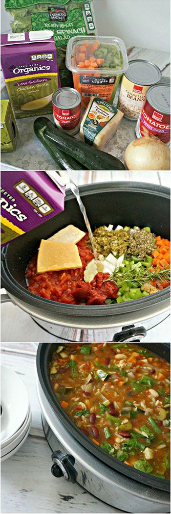 Crockpot Minestrone is an awesome vegetarian friendly option for busy school nights! Totally healthy and easy to throw together! #ReadywithTeeter