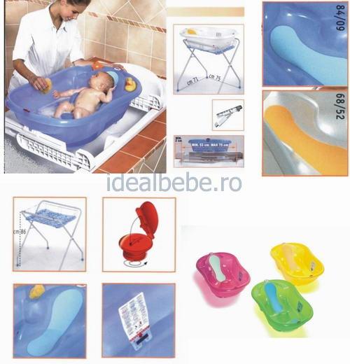 http://idealbebe.ro/ok-baby-cadita-onda-evolution-p-3401.html  Cadiţă ergonomică ONDA EVOLUTION cu indicator pentru nivelul şi temperatura apei;    - Cada bebe recomandată pentru copii între 0 şi 12 luni;    - Disponibilă în două variante de culoare - albastră şi albă;
