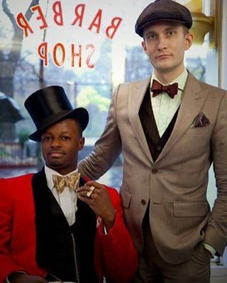 #tbt Matt with Dandy Wellington at the first ever Fine And Dandy pop up shop at Blind Barber in 2010. Photo by Max Kelly for The New York Times. #menstyle #menswear #mensfashion #dandy #dapper #sartorial #haberdashery #hellskitchen (at FineAndDandyShop.com)
