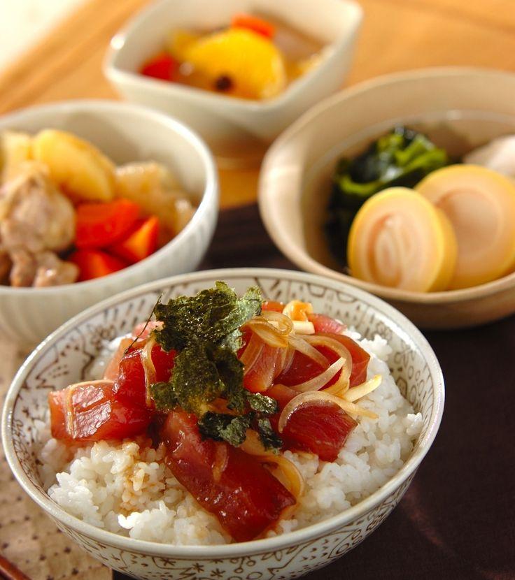 「マグロの漬け丼」の献立・レシピ - 【E・レシピ】料理のプロが作る簡単レシピ/2016.04.02公開の献立です。