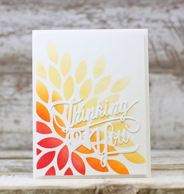 Thinking Of You Card by Laurie Willison for Papertrey Ink (May 2016)