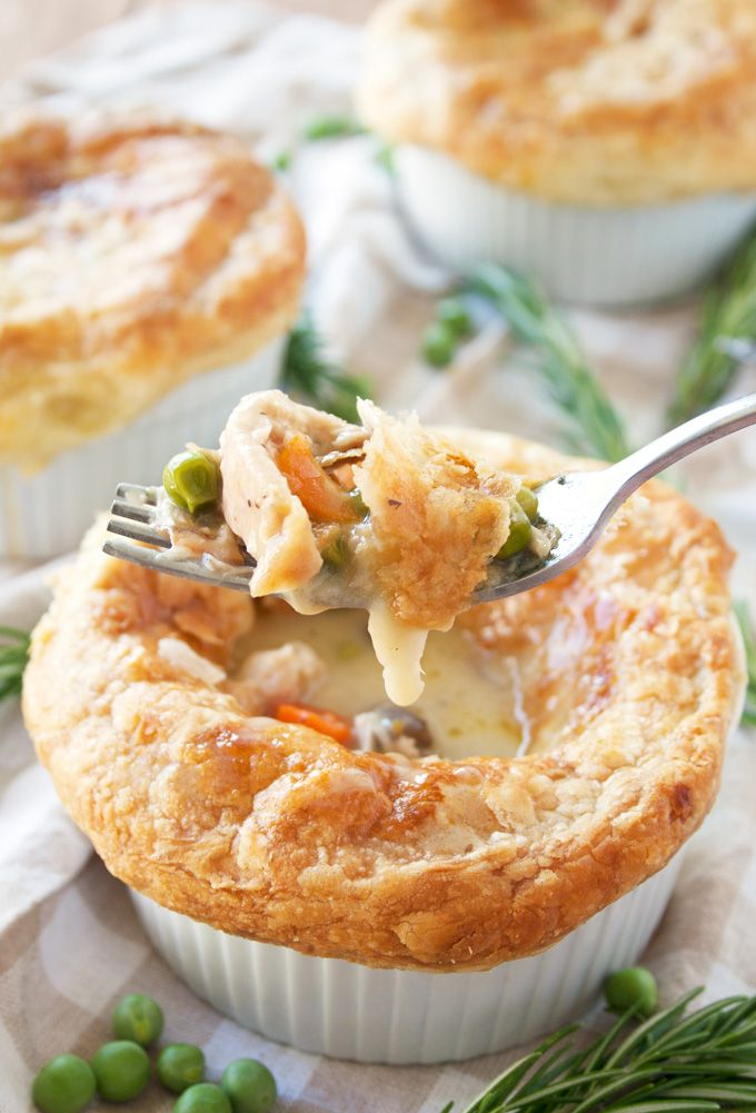 Mini Chicken Pot Pies with Puff Pastry Crust this lil pies are amazing and even got a thumbs up and request to have again from mr six year old.