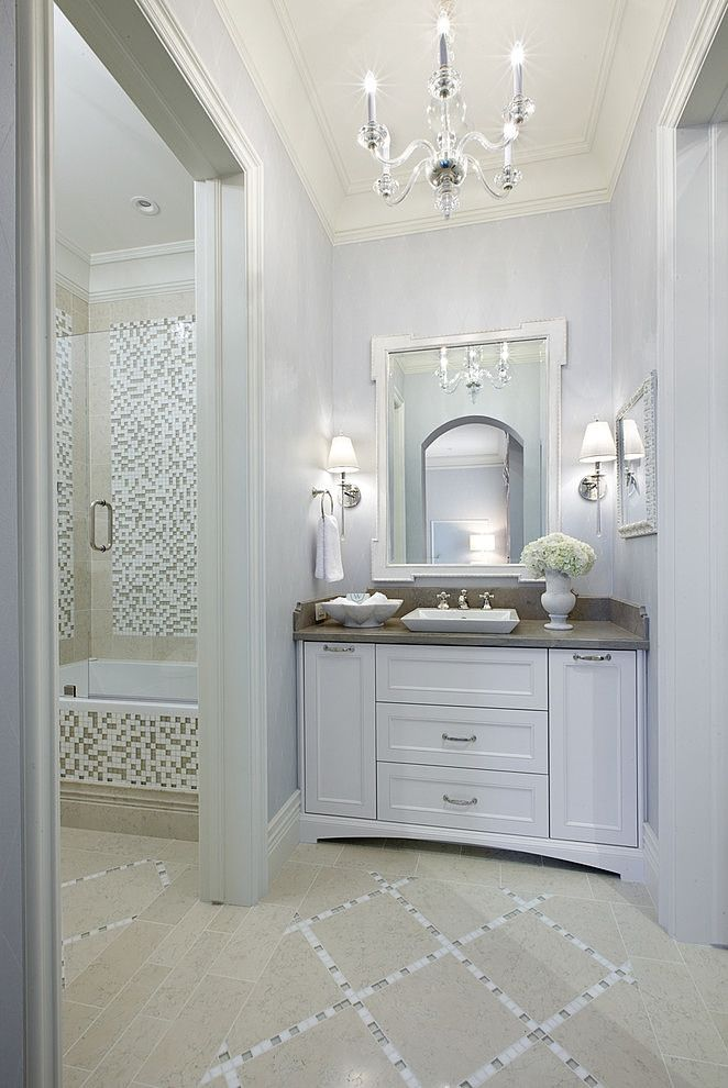 Hollywood regency styled bath tara dudley interiors for Bath remodel las vegas