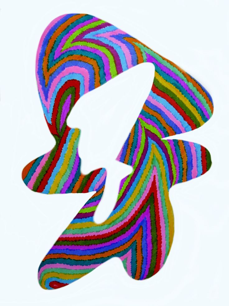 Day 114: Op art in colours. Markers on paper 21x29cm