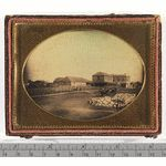 Daguerreotype of what is thought to be 1850s Barrack Street