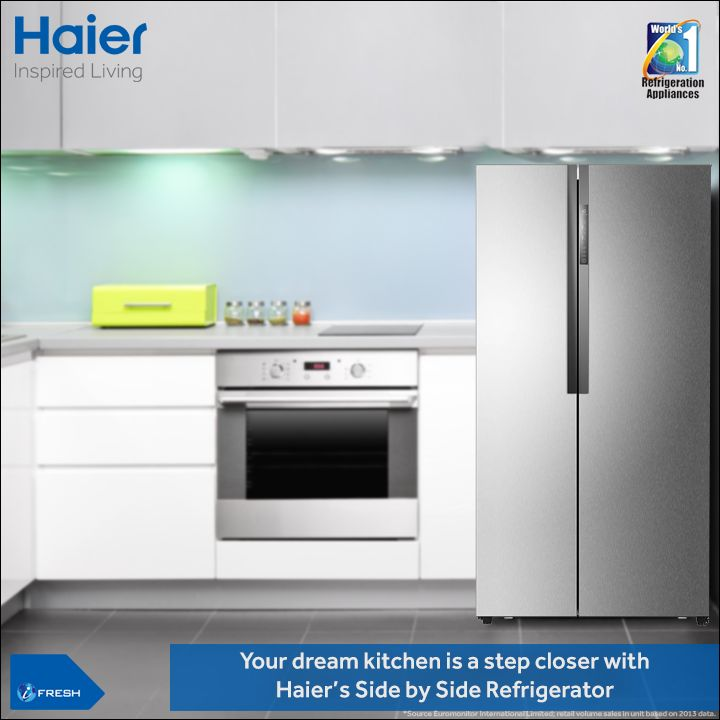 add a dash of style to your kitchen with haieru0027s sidebyside