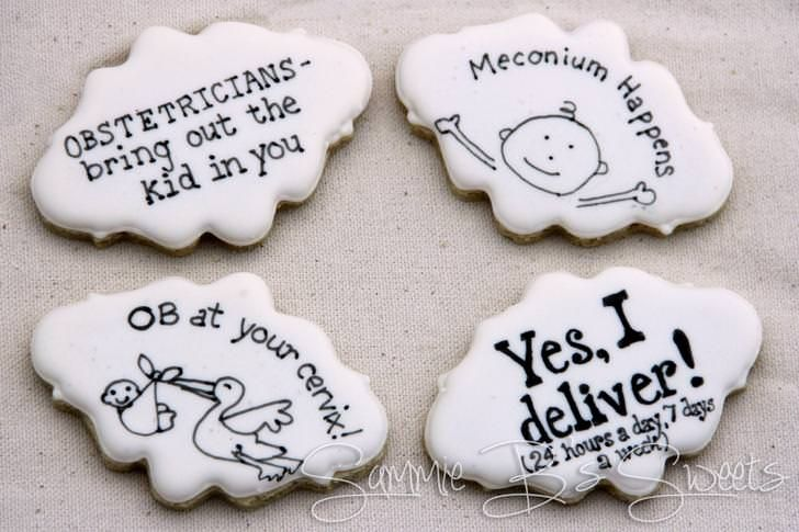 Obstetrician Delivery Doctor Thank You Cookies