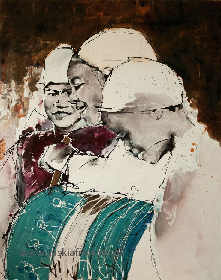 African women turquois drum