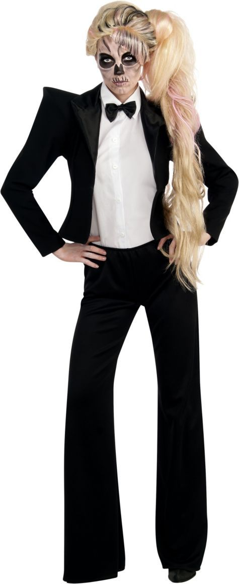 Adult Lady Gaga Skeleton Tuxedo Costume ($25.00-30.00) Born This Way - Party City ONLINE | 3 stars