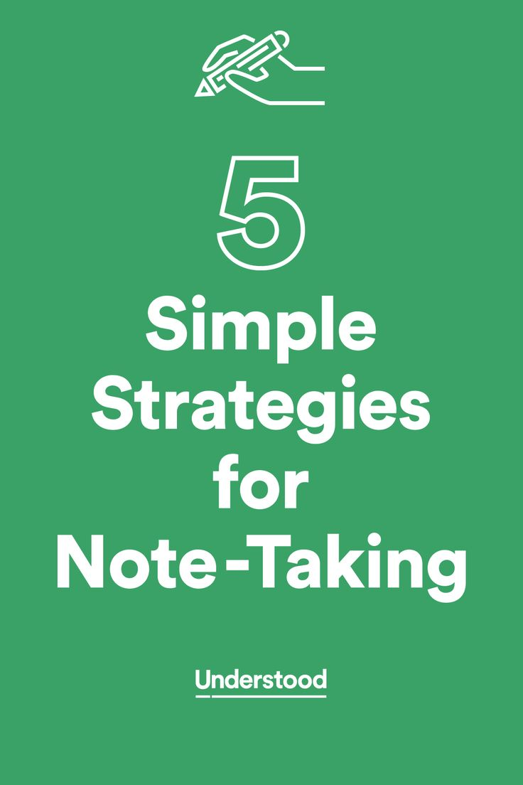 5 simple strategies for notetaking
