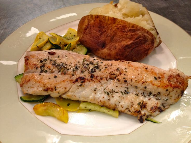 Food Only It Is: Pan Seared Stripped Bass