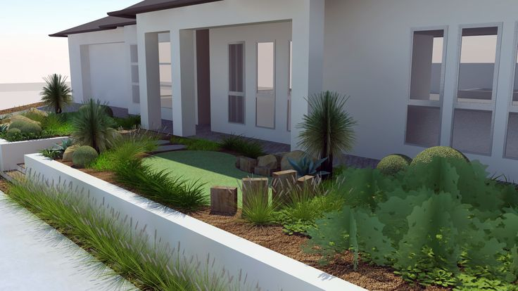 Modern Native Landscape Design - Lockleys Project Narrow Front Yard