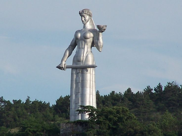 The statue of the Mother of Georgia, otherwise known as Kartlis Deda. This is one of the most famous monuments in Georgia. She is situated 50 meters high and watches over all the Georgian people. She symbolizes the Georgian national character: in her left hand she holds a bowl of wine to greet those who come as friends, and in her right hand is a sword for those who come as enemies. She is spectacular to see, a must visit if you go to Tbilisi. Interesting Fact: The statue was erected on the…