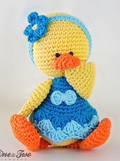 Duck Amigurumi - PDF Crochet Pattern ❁•Teresa Restegui http://www.pinterest.com/teretegui/•❁