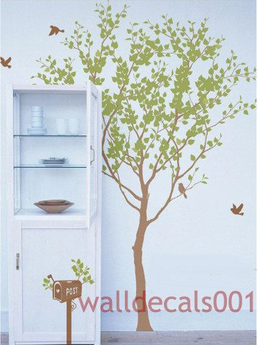 Vinyl Tree Wall Decals Wall Stickers Tree Kids Nature Baby Nursery Roomdecor Wall Decor Wall