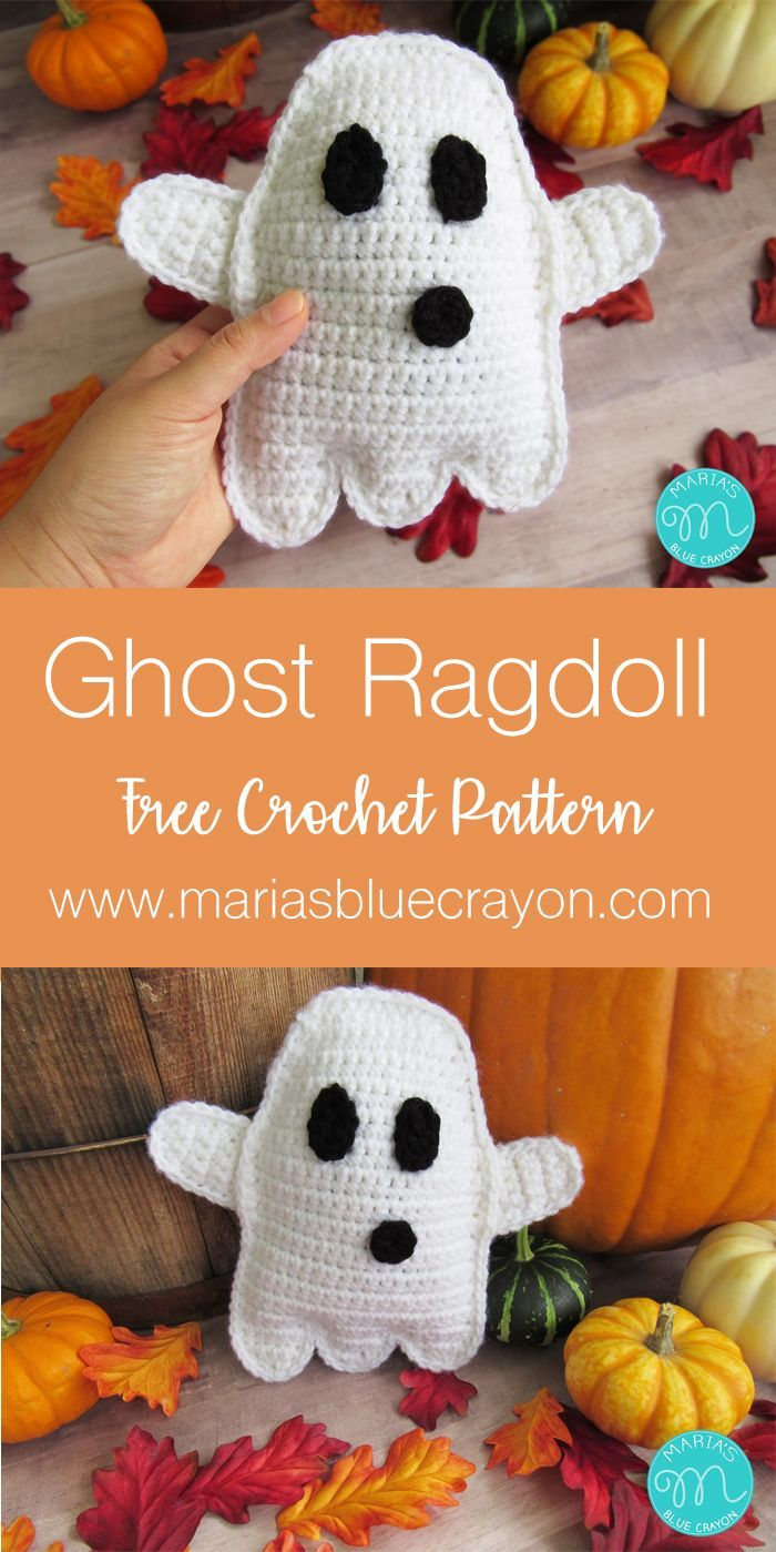 Ghost Ragdoll Amigurumi Crochet Pattern | Maggie\'s Crochet - All ...