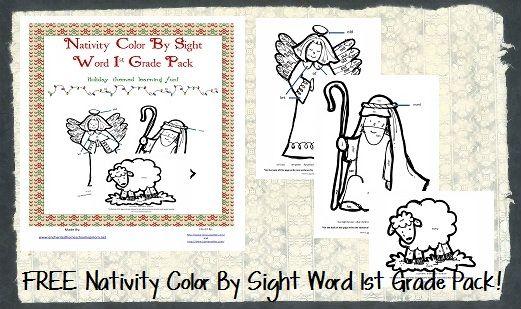 FREE Nativity Color 1st & 3rd Grade Worksheet Packets at Enchanted Homeschool Mom