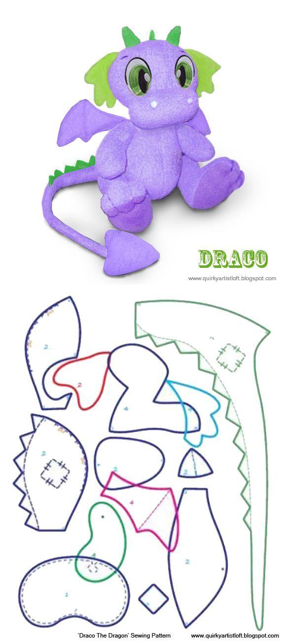 Quirky Исполнитель Лофт: Бесплатный шаблон: Драко Dragon