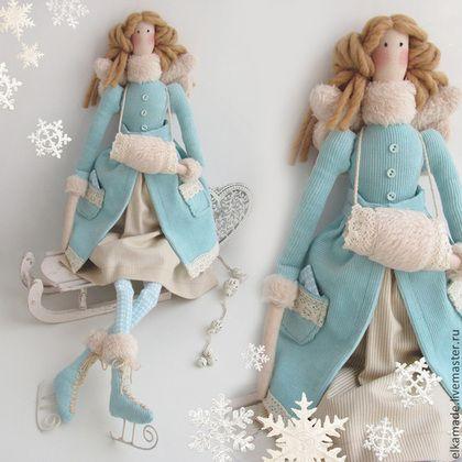 Куклы Тильды ручной работы. Ярмарка Мастеров - ручная работа Интерьерна кукла Барышня на конёчках. Handmade.
