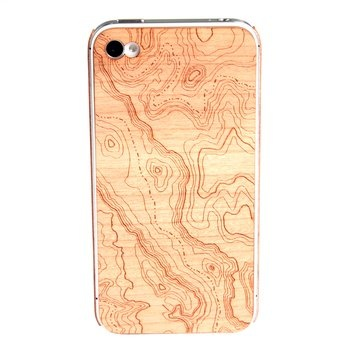 Wooden Topo iPhone case @eric_TYPHOON