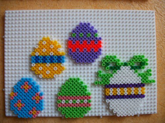 Easter eggs hama perler by mes-petites-creations-13