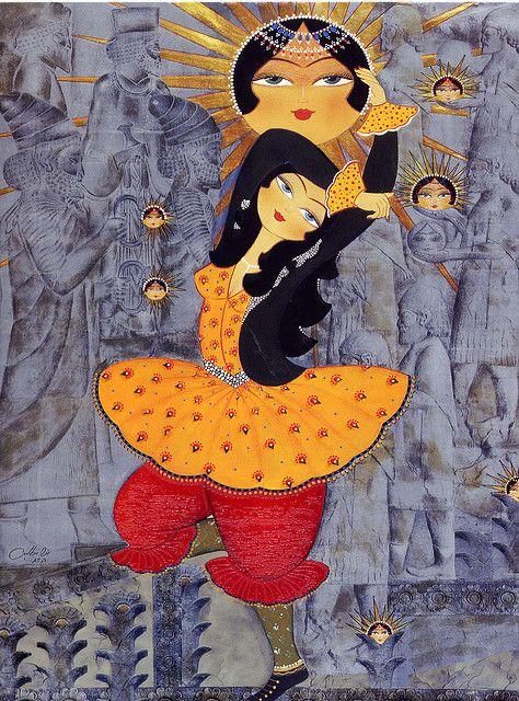Cute! Persian greeting card artwork,via Flickr by Indari.