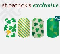 Wear your green this St. Patty's Day with these St. Patrick's Day Exclusive Jamberry nail wraps! Check them out here: karaodell.jamberrynails.net