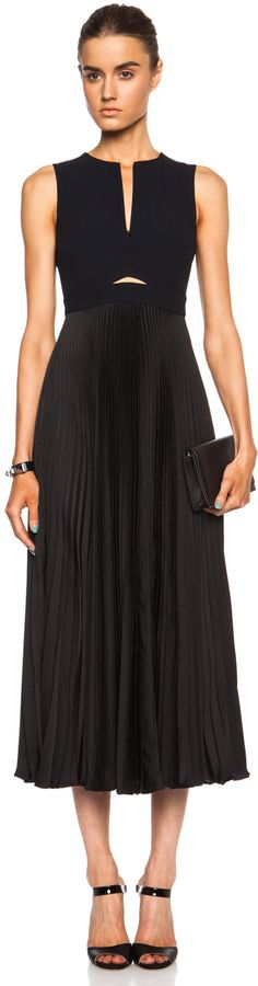 A.L.C. Cornelia Viscose-Blend Dress in Black & Navy