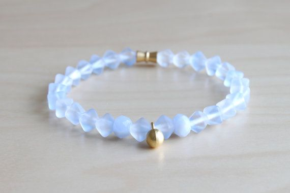 Blue mala bracelet / summer bracelet / beach by HandsLoveJewelry