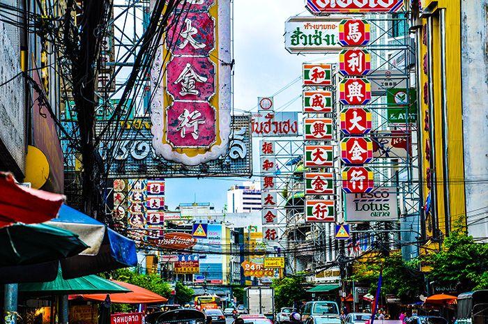 Wat Traimit, Golden Buddha y Chinatown. Bangkok. Tailandia. Thailand