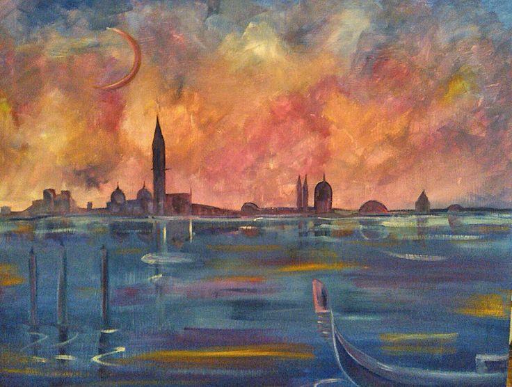 informale ( venezia ) olio su tavola 50x70