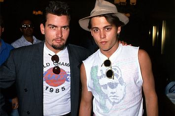 Vintage Pictures Show Johnny Depp And Charlie Sheen Being BFFs