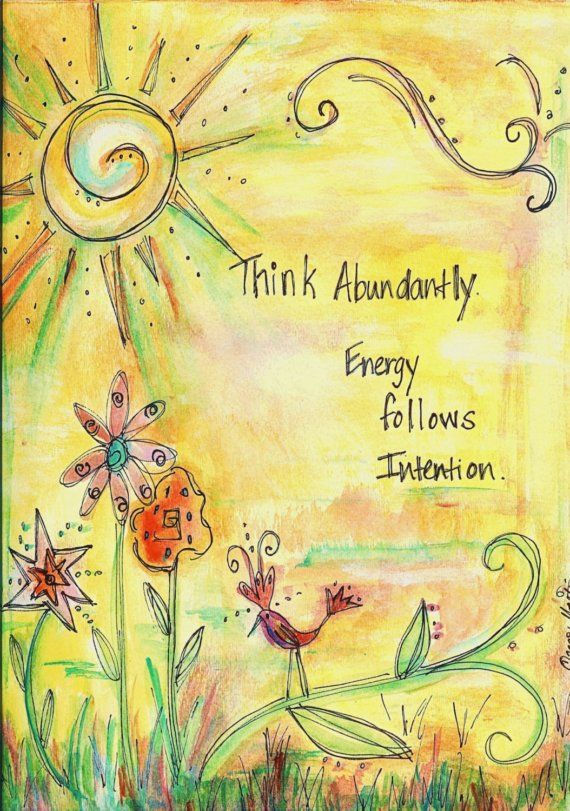 Law of Attraction - Think abundantly.