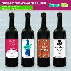 Etiqueta-diseño-label-plantilla-vino-personalizado-dia-del-padre-papa-father-dad-botella-chile_1