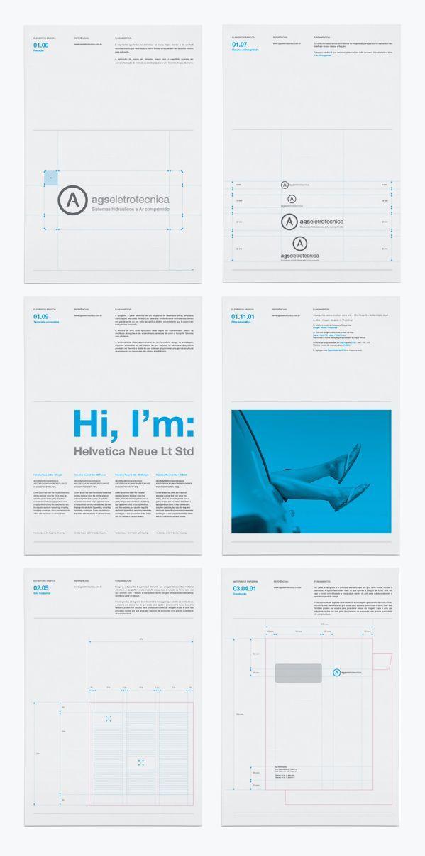 Brand Identity - Agseletrotecnica by Kaique Amorim, via Behance: