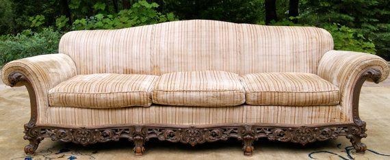 Corona di Collini 1920's Custom Made Sofa by EstateServicesKeitha