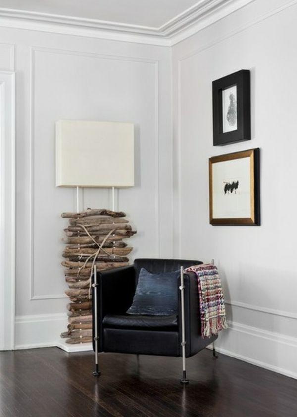 Deckenleuchten und Wandleuchten stehlampe lampenfuß holz
