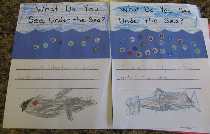 under the sea crafts | See what we did today: What do you see under the sea?